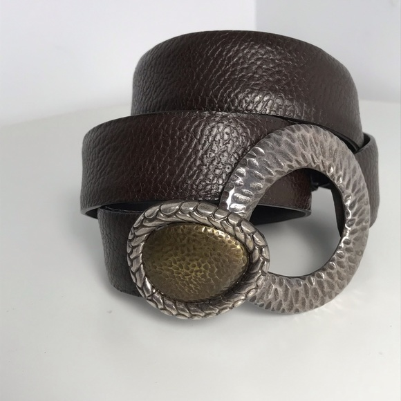 Chico's Accessories - CHICO'S Adjustable Brown Leather Belt SIze S - M